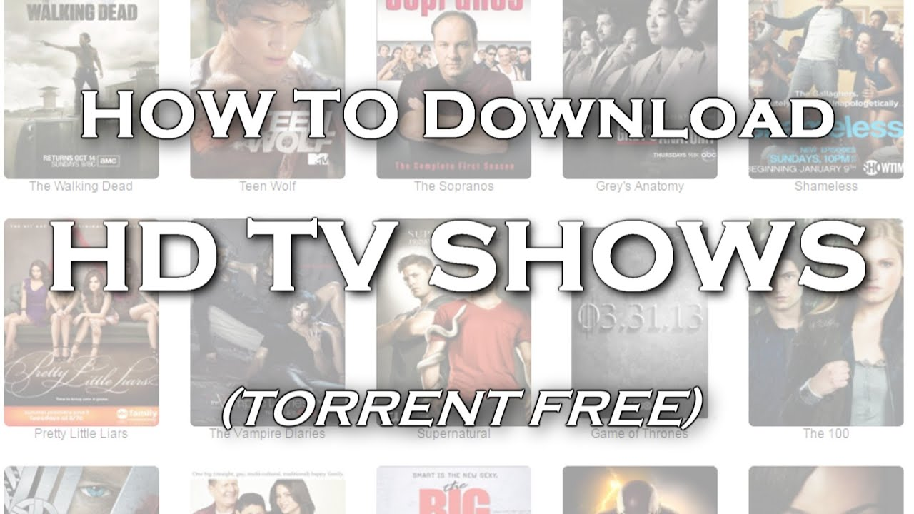 How To Download HD TV Shows (4 ways) - YouTube