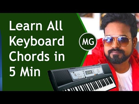 Learn All Keyboard  Chords in 5 Min  || Muiscal Guruji