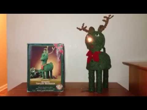 Gemmy Animated Singing Topiary Reindeer (RARE)