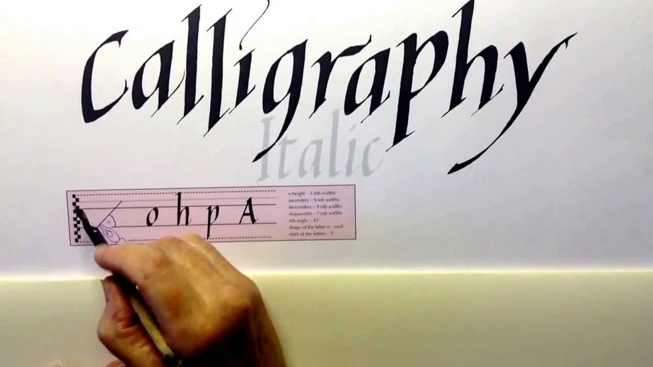 Calligraphy italic 1 youtube Calligraphy youtube