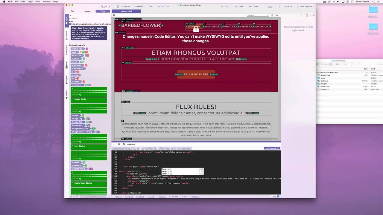 Flux 6 CSS Templates - YouTube