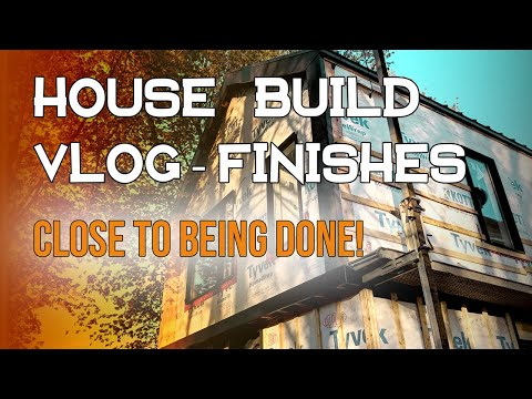 DIY HOUSE BUILD VLOG - Tile, Doors, and Paint finishes