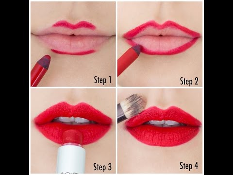 Image result for Applying lipstick