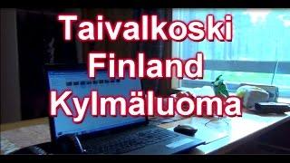 Taivalkoski in Finland campsite Kylmäluoma The cottage is called Rautu 30.6.2014