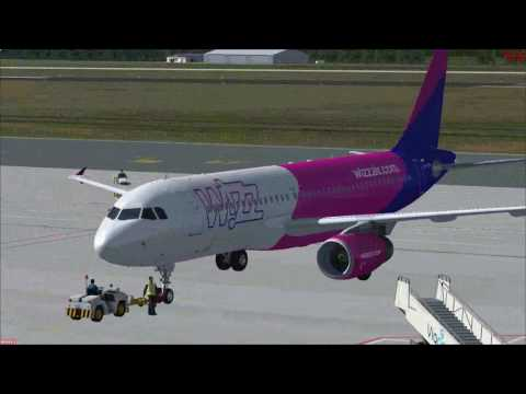 FSX Eindhoven EHEH to Gdansk EPGD with a Wizzair A320