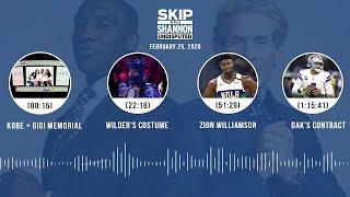 Kobe + Gigi memorial, Wilder's costume, Zion, Dak's contract (2.25.20) | UNDISPUTED Audio Podcast