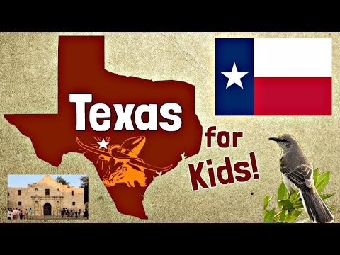 Texas for Kids | US States Learning Video