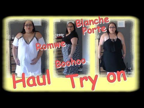 Haul Try On ... Romwe Blanche porte Boohoo ...