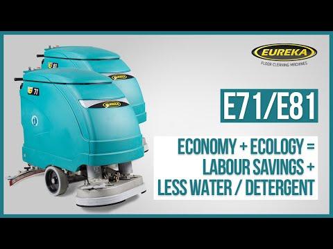 Walk-behind Scrubber-dryers E71 & E81 | Eureka Industrial Floor Cleaning Machines