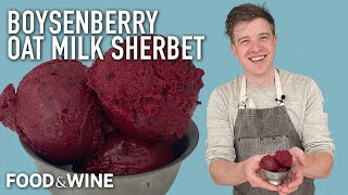Want Dairy-Free Ice Cream? Try This Boysenberry Oat Milk Sherbet From Tyler Malek   Chefs At Home