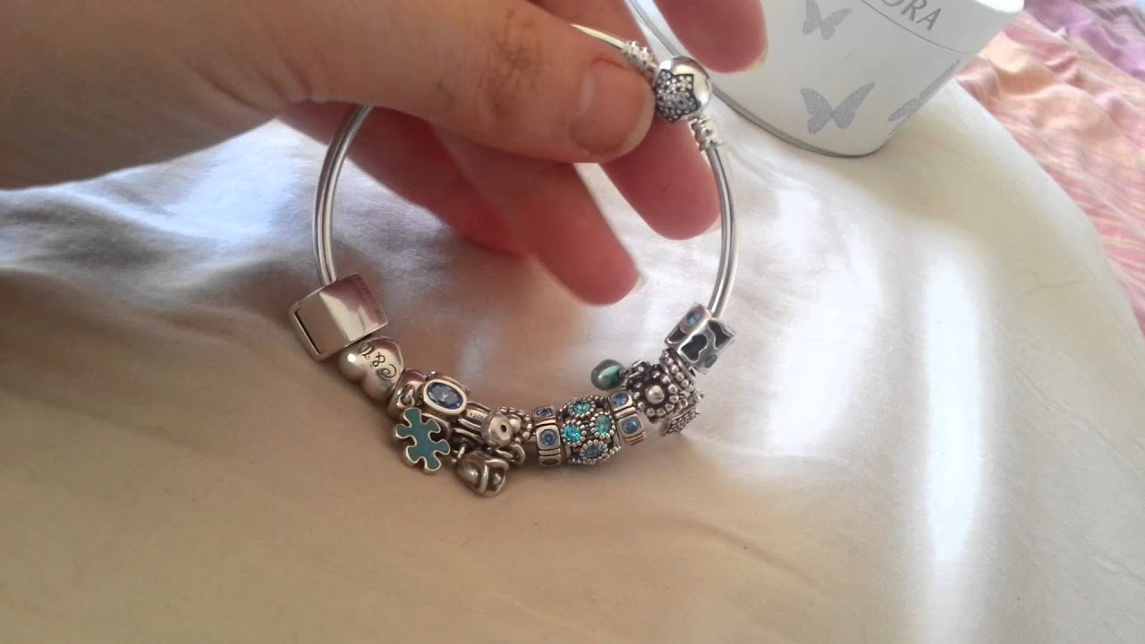 bracelet and with blue pandora bangle charms bangles pin brighton