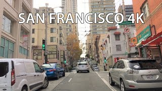 Driving Downtown - Hills Of San Francisco - San Francisco California USA