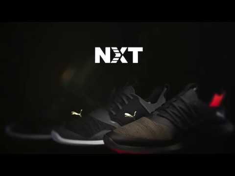 Puma Ignite NXT Disc Golf Shoes BlackSilverWhite