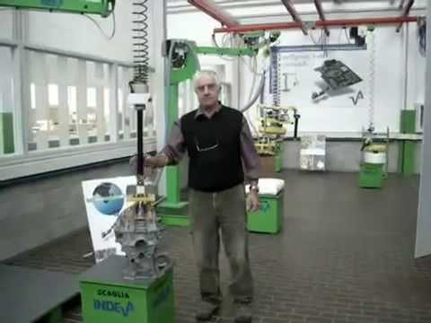 INDEVA Lift Assist Device for handling engine blocks 1