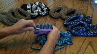 Chunky Braid Stitch on a Knitting Loom