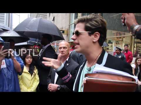 USA: Ex- Breitbart Ed. Milo Yiannopoulos files $10 mln lawsuit against publisher