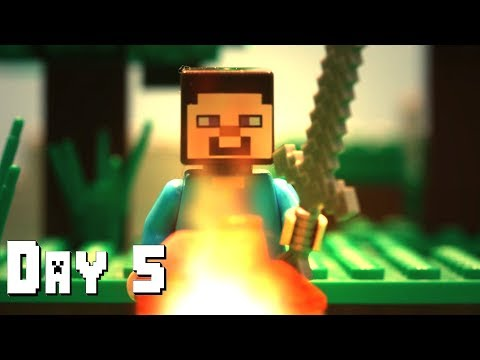LEGO Minecraft Survival Day 5 (Stop Motion Animation) thumbnail