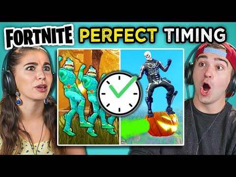 Adults React To Fortnite Perfect Timing Compilation