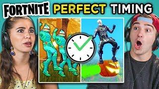 Download Adults React To Perfect Timing Fortnite Compilation Mp3 and Videos