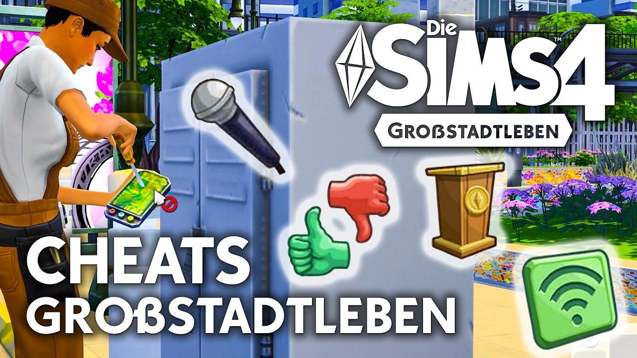 Cheats Für Die Sims 4 Großstadtleben Karrieren Und Singen Fähigkeit