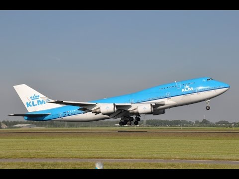 Plane spotting Amsterdam Schiphol airport landing and take off