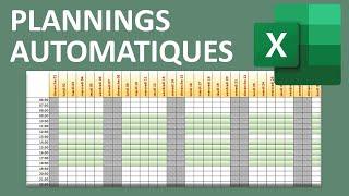 Créer des calendriers et plannings automatiques avec Excel thumbnail