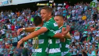 Gol de Julio Furch | Santos Laguna 1 - 0 Atlas | LIGA Bancomer MX - Apertura 2018 - Jornada 12