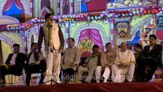 Poet Gajendra Solanki at Luv Kush Ramlila