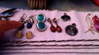 Garage sale haul, thrift haul, estate sale haul, jewelry haul #19 (October 4, 2015)