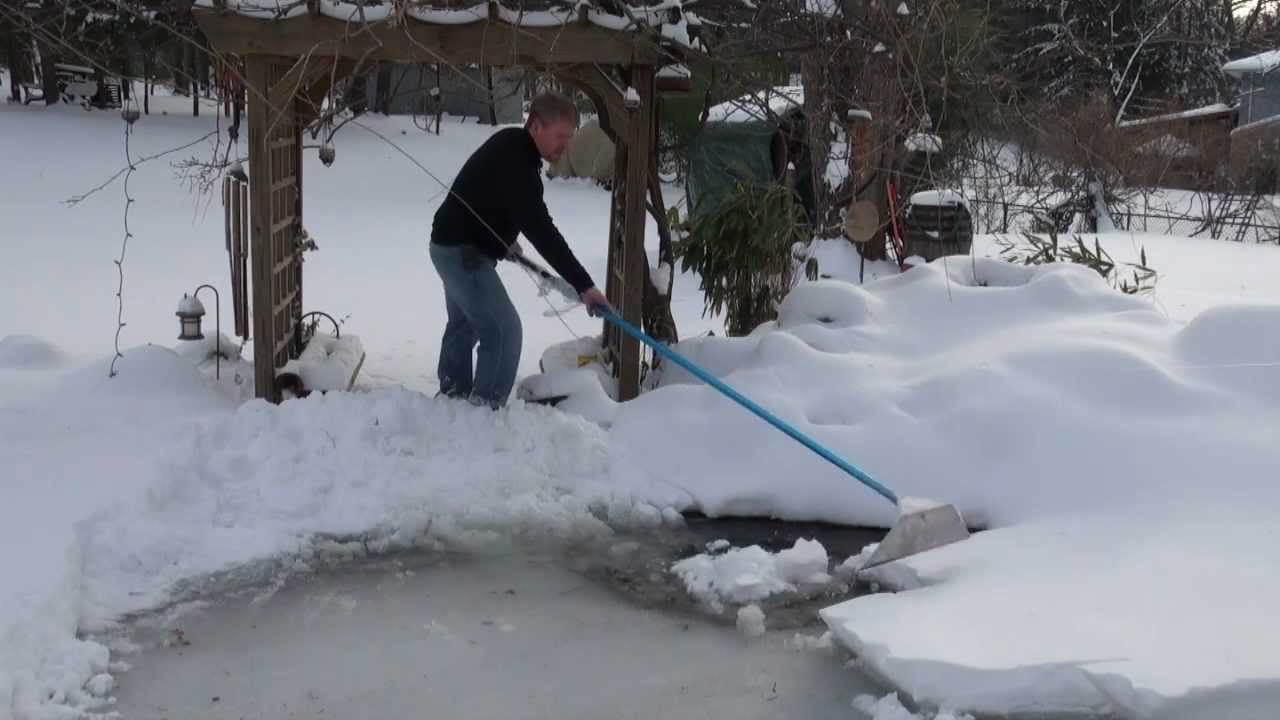 Winter care for your koi pond watergarden how to youtube for Koi pond temperature winter