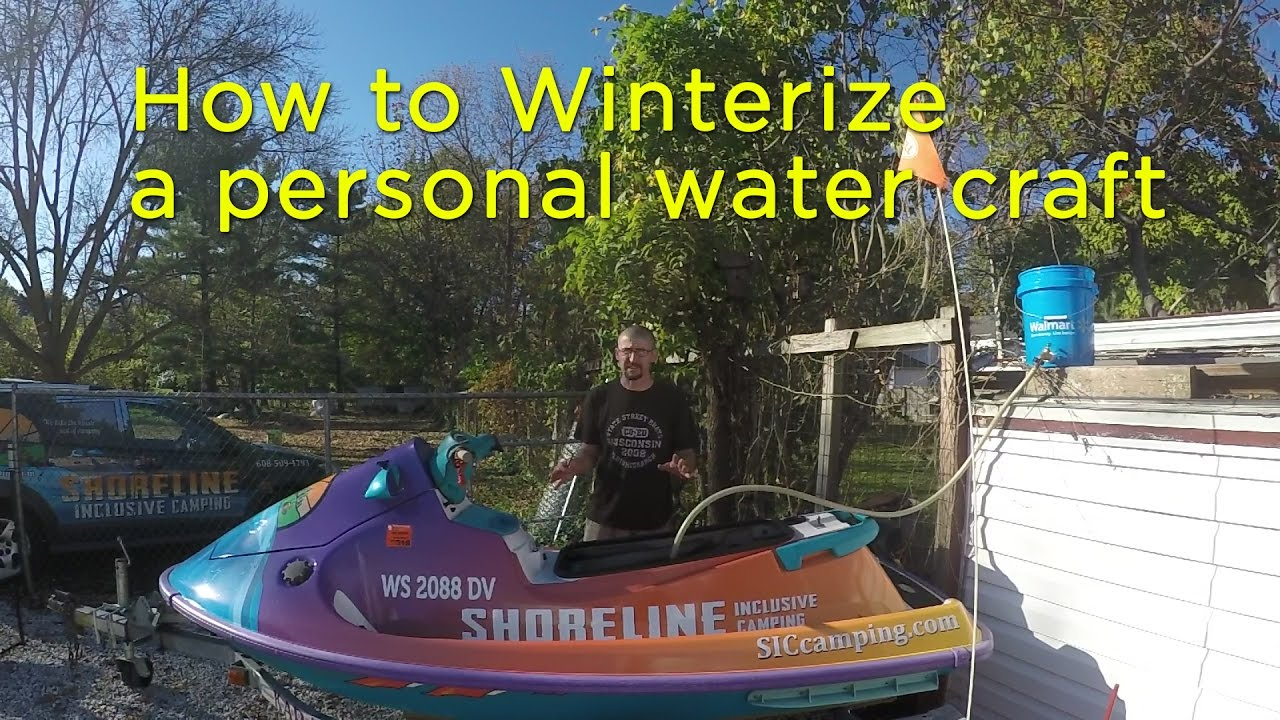 How to Winterize a personal water craft for extended storage