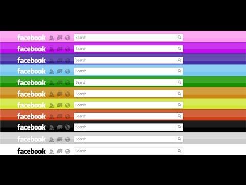 สอน!เปลี่ยนสีเฟสบุ๊ค