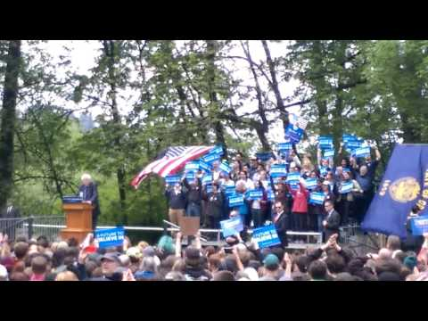 War On Drugs - Bernie Sanders in Eugene Oregon