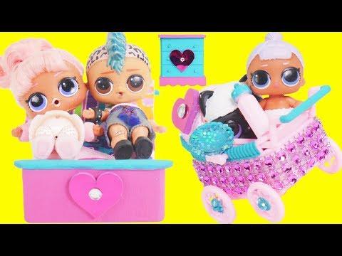 LOL Surprise Dolls Punk Boi Family Married in Custom Bedroom   Toy Egg Videos