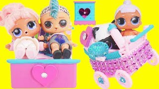 LOL Surprise Dolls Punk Boi Family Married in Custom Bedroom | Toy Egg Videos
