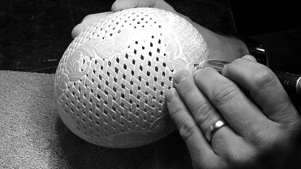 Ostrich Egg carving - YouTube