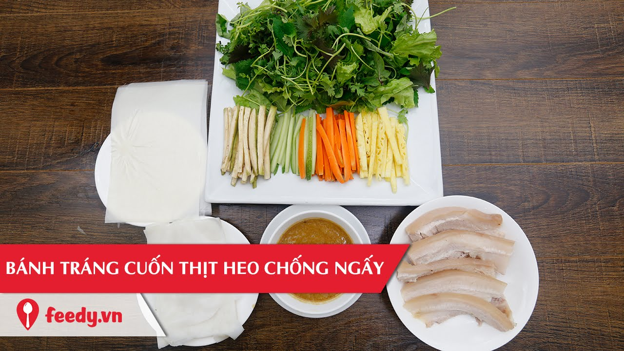 Hướng dẫn cách làm món Bánh tráng cuốn thịt heo - Ricepaper Rolls With Belly Pork