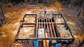OFF GRID Wilderness LOG CABIN Build | Yakisugi Wood Foundation and Root Cellar