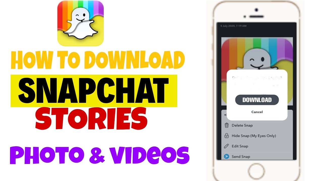 How to download snapchat stories