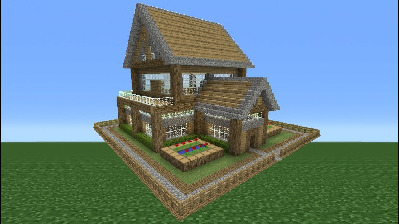 Minecraft tutorial how to make a small survival house 4 youtube - How to make a small house ...