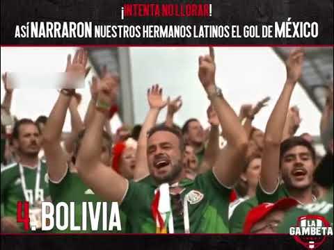 Así NARRARON nuestros hermanos latinos el GOL de #México vs Alemania
