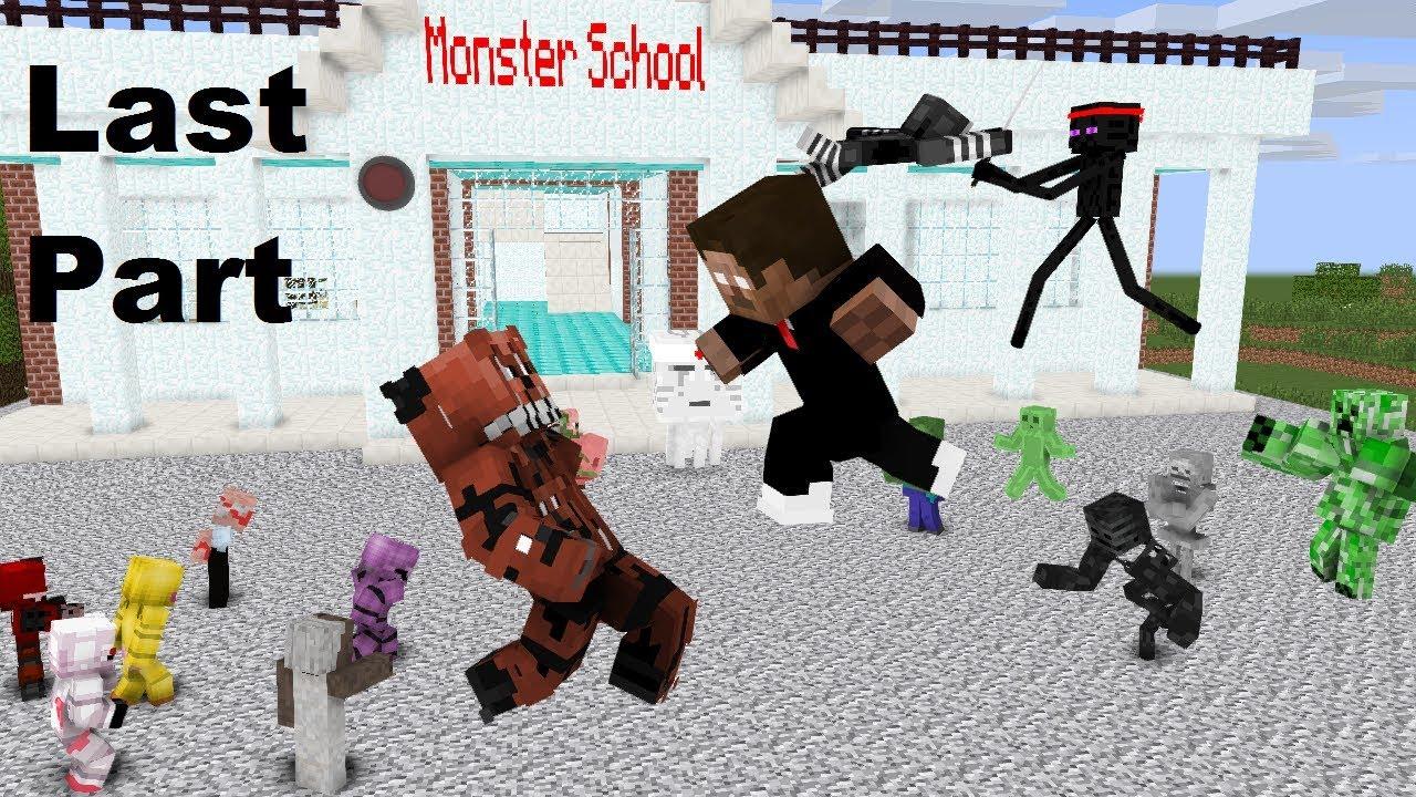Monster School : GRANNY, GRANDPA & FNAF (The Final Battle) Last Part - Minecraft Animation