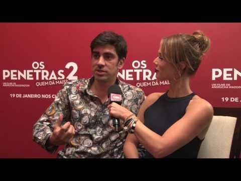 Mariana Ximenes e Adnet comemoram parceria no cinema