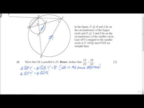 GCE O-Level A-Maths: Plane Geometry Question (Part 1)