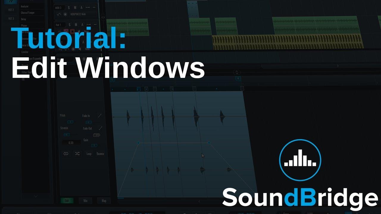 How do I edit samples and loops tempo/BPM in SoundBridge DAW