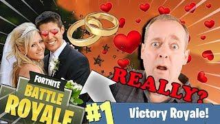 LE MARIAGE DE LARY ET WAL LES NOOBS SUR FORTNITE BATTLE ROYALE !
