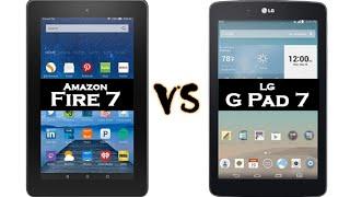 NEW Fire 7 Tablet (5th Gen) vs LG G Pad 7 - Size Comparison | H2TechVideos