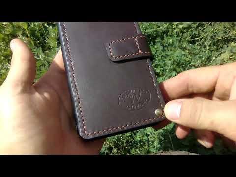 Чехол(книжка) для телефона из натуральной кожи своими руками.