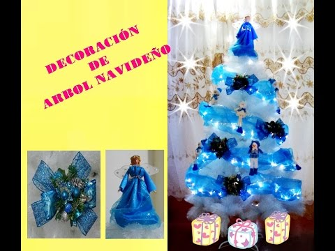 Decoracion de arbol navide o youtube for Decoracion para arboles navidenos