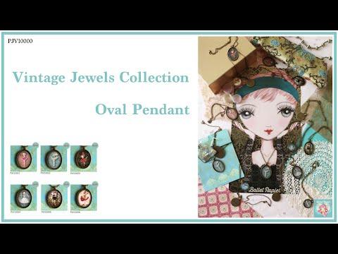 Vintage Jewels Collection  Oval Pendant PJV10000   Ballet Papier